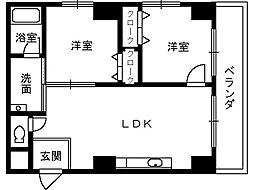 エクセル熊野町[501号室]の間取り