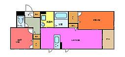 仮称 東大阪市シャーメゾン森河内西1丁目[102号室]の間取り
