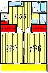 藤井マンション[4階]の間取り