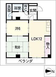コーポ土田[3階]の間取り