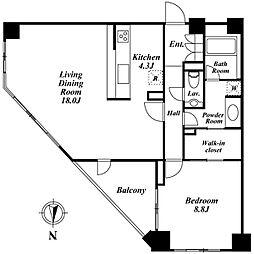 コスモリード南麻布(旧:南麻布デュープレックスリズ)[2階]の間取り