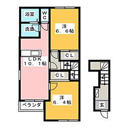 メゾンスピカ[2階]の間取り