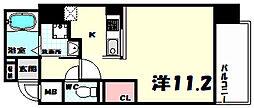 プライムレジデンス神戸・県庁前 8階1Kの間取り