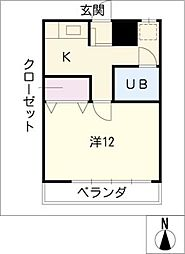 高蔵寺ビル[4階]の間取り