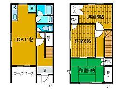 [テラスハウス] 神奈川県相模原市中央区千代田1丁目 の賃貸【/】の間取り