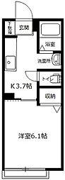 Maison Fujimi[102号室]の間取り