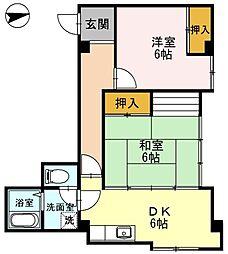 ハイマートメゾンII[2階]の間取り