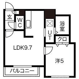 北海道札幌市中央区南四条西12の賃貸マンションの間取り
