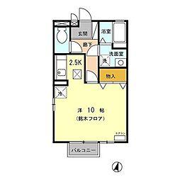 オーシャンベル[105号室]の間取り