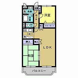 ドリームマンション[1階]の間取り