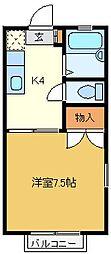 コーポあだち[201 202 205号室]の間取り
