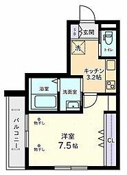 (仮称)日野本町2丁目Nマンション 1階1Kの間取り