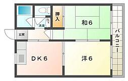 八紘マンション[3階]の間取り