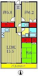 ロイヤルパレス天王台[3階]の間取り
