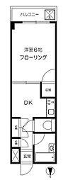 東京都板橋区大山西町の賃貸マンションの間取り
