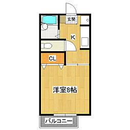 シェリールマナベ[2階]の間取り