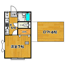 キャロットハウス6[2階]の間取り