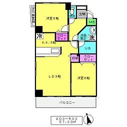 COVA北上野[303号室]の間取り