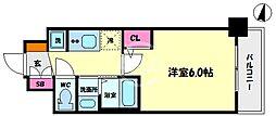 エステムコート難波サウスプレイスVIラグジー 9階1Kの間取り