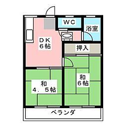 浅井ハイツ[2階]の間取り