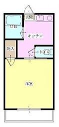 宮崎県宮崎市大字熊野の賃貸アパートの間取り