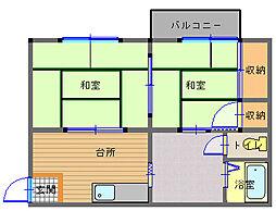 長崎県長崎市高平町の賃貸アパートの間取り