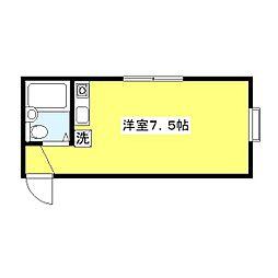 ハイツユキ[202号室]の間取り
