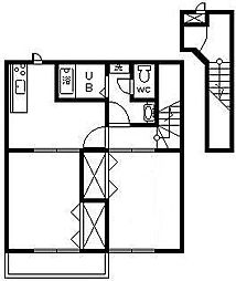 メルヴェィユ- 1[2階]の間取り