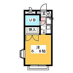 ユーハイムY・III[1階]の間取り