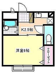 タウニー21[2階]の間取り