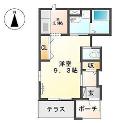 愛知県名古屋市南区呼続4丁目の賃貸アパートの間取り