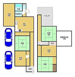 Osaka Metro谷町線 平野駅 徒歩13分 6LDKの間取り