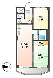 サンライズ清香II[5階]の間取り