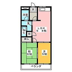 グリーンハイツ和泉[2階]の間取り