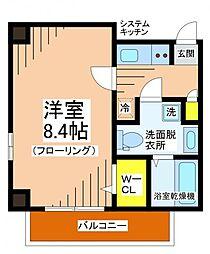 東京都世田谷区南烏山5丁目の賃貸マンションの間取り