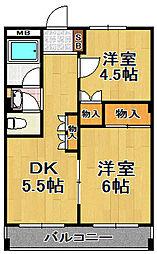 江口マンション[2階]の間取り