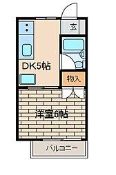 フラット町田[2階]の間取り