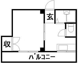 竹村ハイツ[303号号室]の間取り