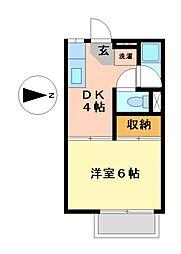 愛知県名古屋市瑞穂区豊岡通2丁目の賃貸アパートの間取り