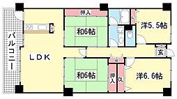 LM鈴蘭台壱番館[11階]の間取り