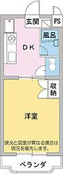 カーサカジマ1[4階]の間取り