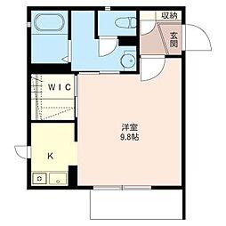 ラウム松戸[1階]の間取り