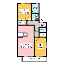 ローズヒル[2階]の間取り