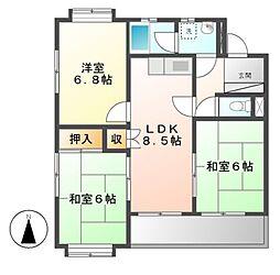 サンサーラキトー[2階]の間取り