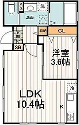 東京メトロ南北線 東大前駅 徒歩5分の賃貸マンション 1階1LDKの間取り