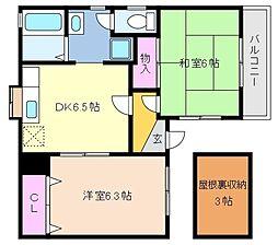 兵庫県神戸市東灘区御影石町4丁目の賃貸アパートの間取り