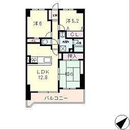 コスモ守山1番館[8階]の間取り