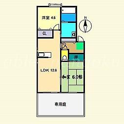 メゾンボヌール E棟[1階]の間取り