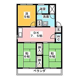 第2鬼頭マンション[4階]の間取り