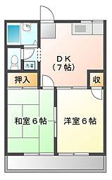 ファミールさくら[2階]の間取り